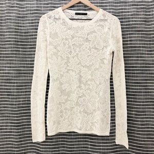 Peruvian Connection | Floral Lace Long Sleeve Top